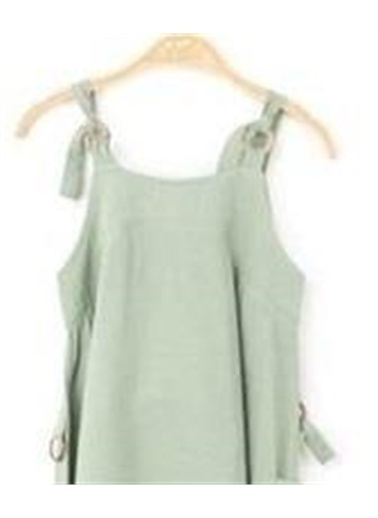 Riccotarz Kız Çocuk Tunus Salaş Yeşil Elbise Yeşil